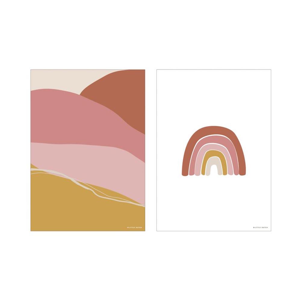 Poster A3 2 bedruckte Seiten Horizon rosa