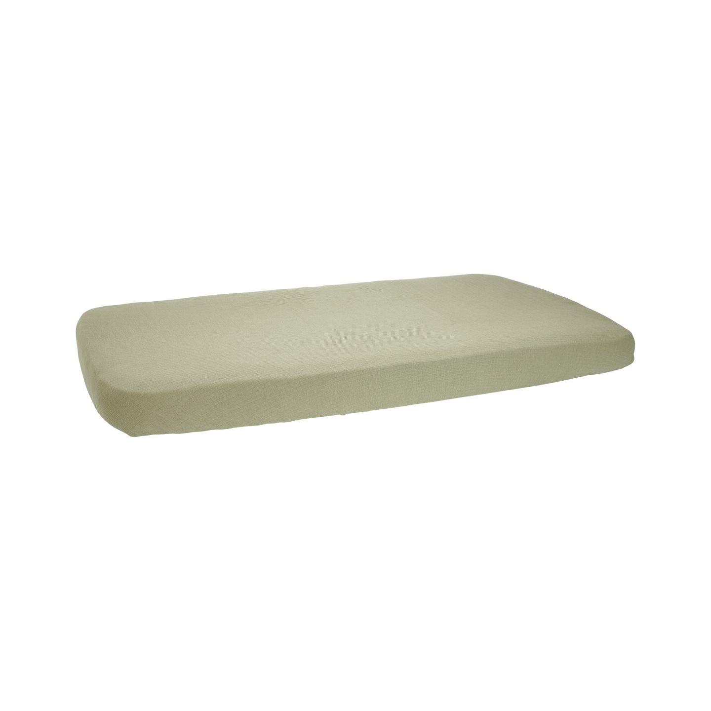 Spannbetttuch für Kinderbett Pure olive (Gr. 70x140 cm)