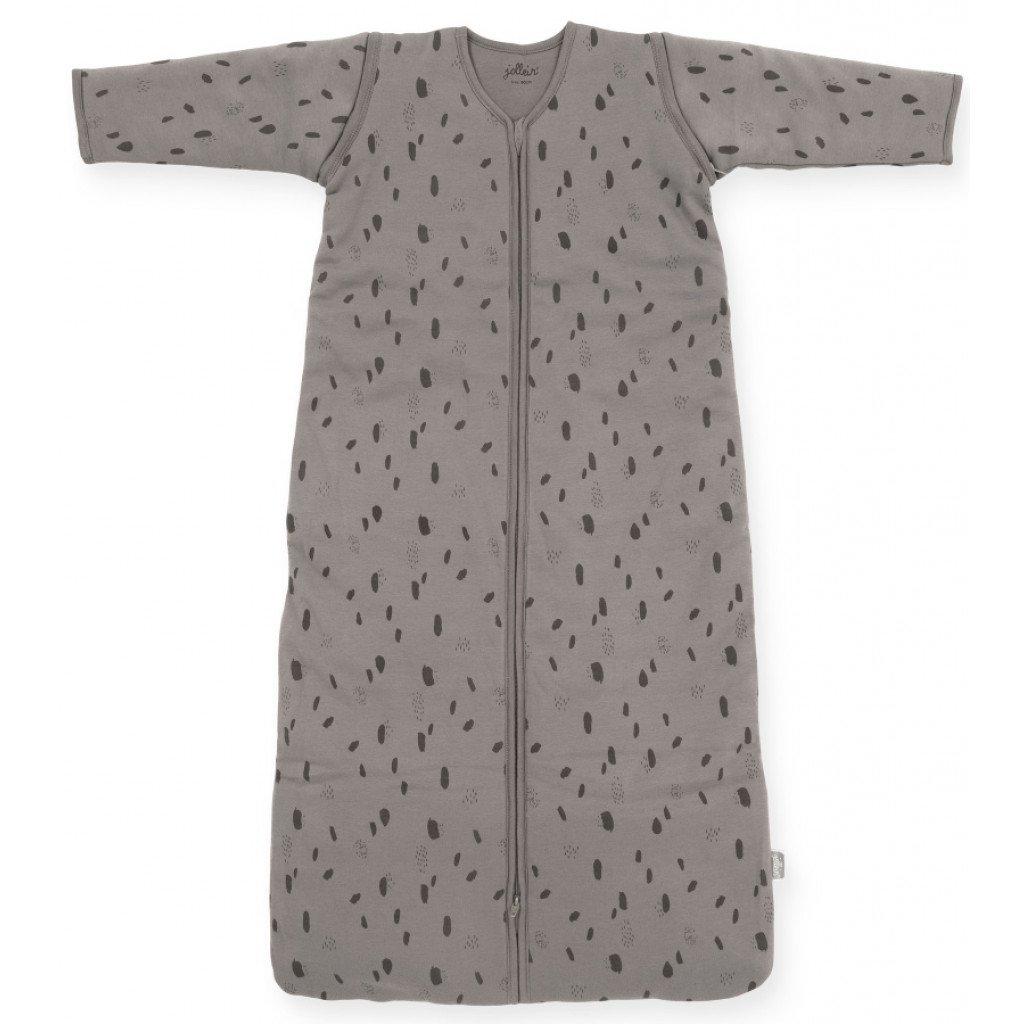 Jollein Schlafsack mit abnehmbaren Ärmeln 4 Jahreszeiten Spot Tupfen grau Gr. 70 cm