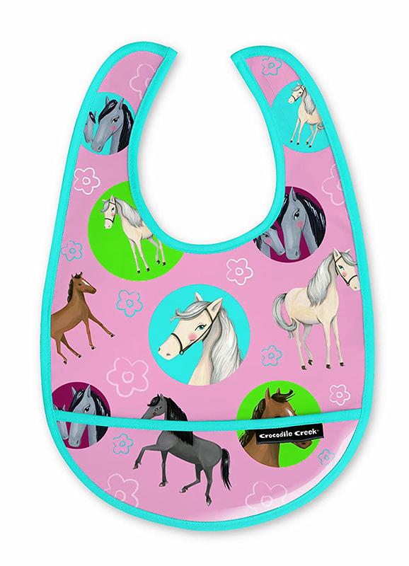 Lätzchen Pferde rosa türkis 3er Set