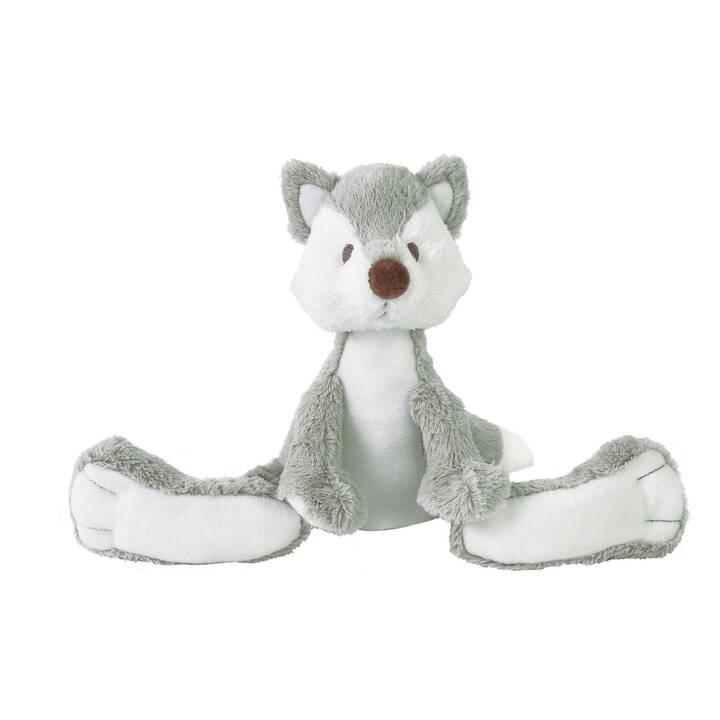 Plüsch Fuchs Stofftier Kuscheltier grau 22 cm
