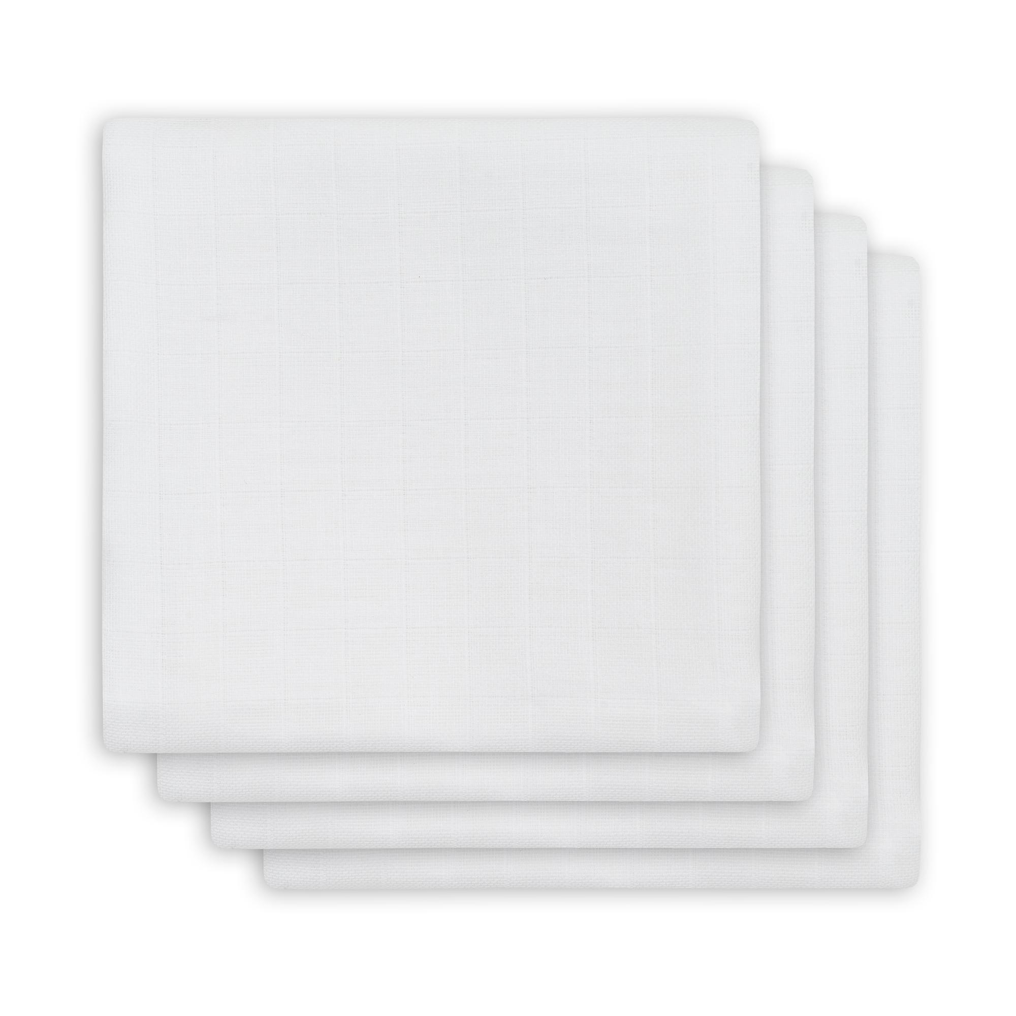 Mulltücher Bambus 4er Set weiß (Gr. 70x70 cm)