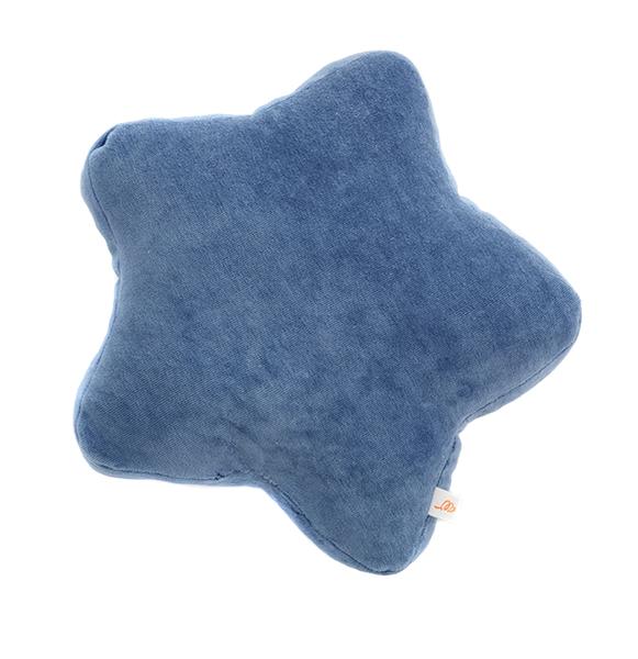 Samt Kissen Stern blau 30x30x4 cm