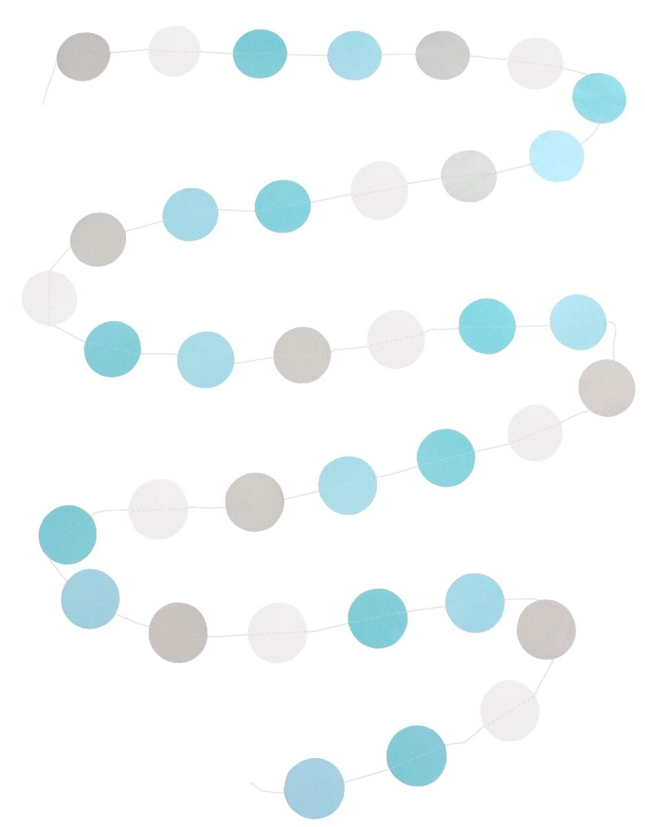 Girlande Papier blau