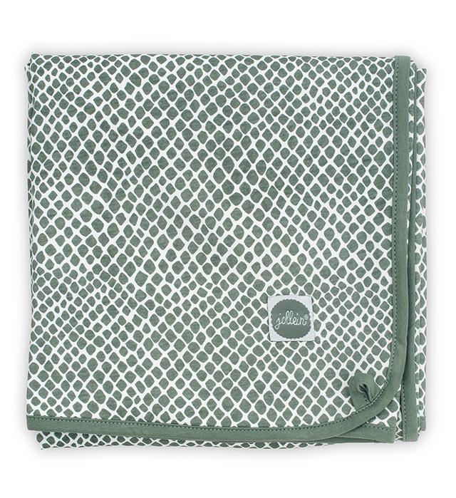 Babydecke Jersey Schlange ash green (75x100 cm)