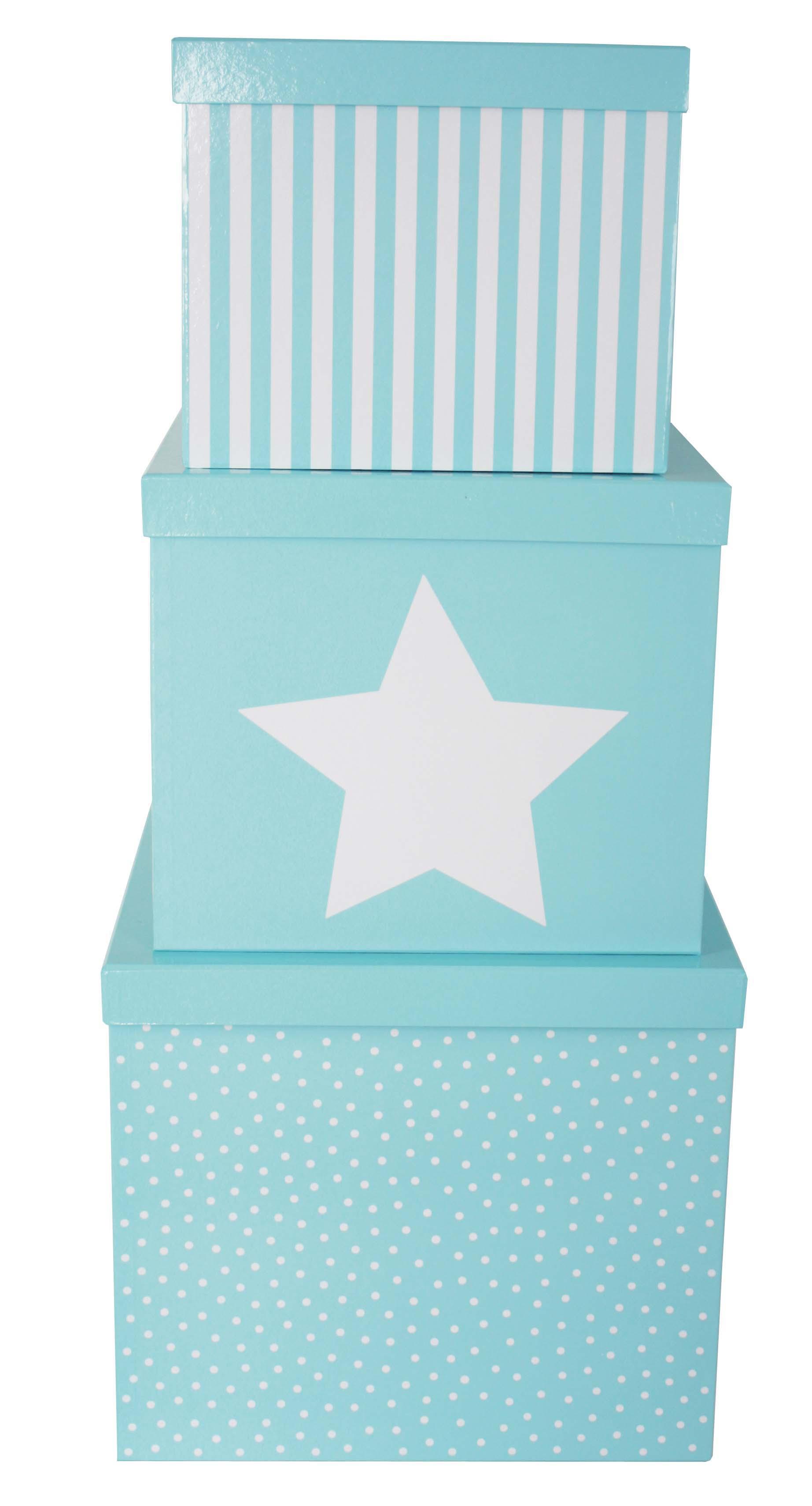 Aufbewahrungsboxen 3er Set blau