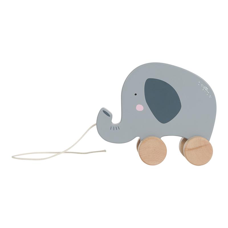 Holz Nachziehtier Elefant