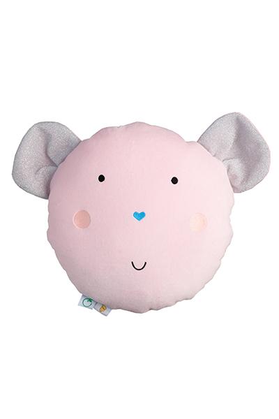 Wigiwama Samt Spielkissen Maus rosa 35 cm