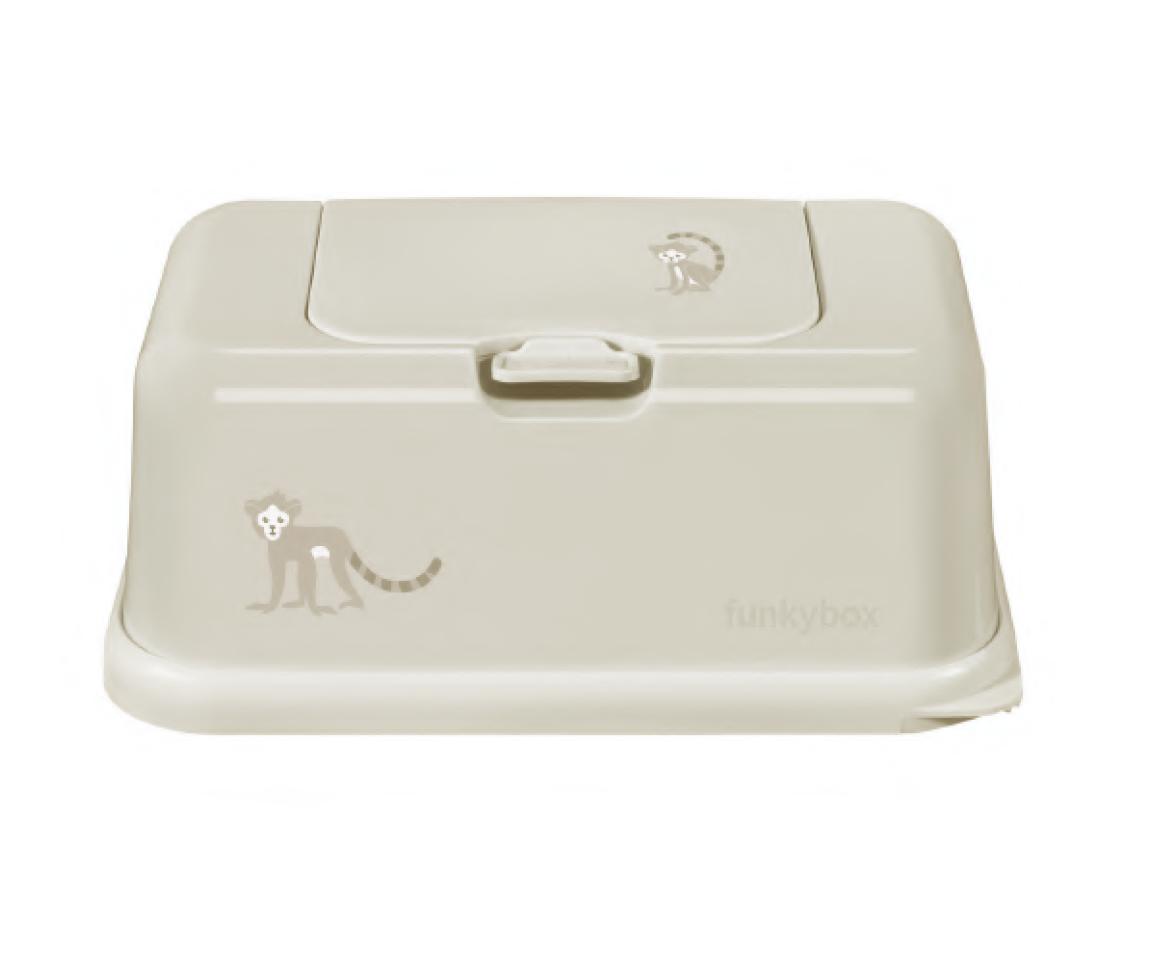 Feuchttücher Aufbewahrungsbox Affe Lemur grau