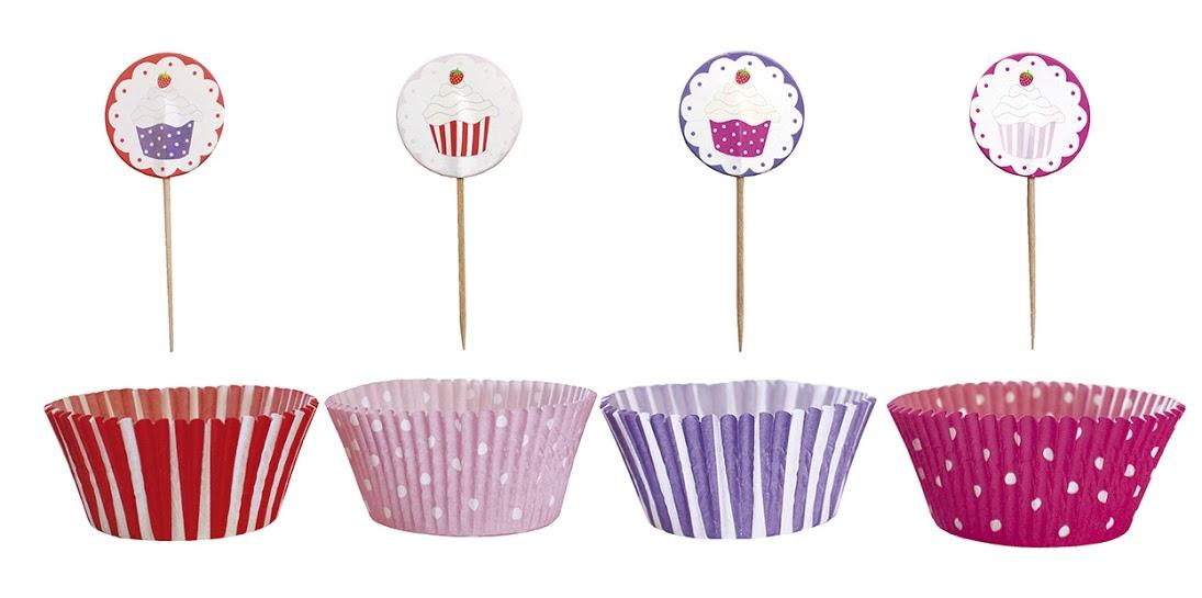 Muffin Deko Set rosa