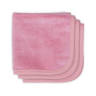 samtige Frottee Spucktücher rosa 3er Pack 30x30cm