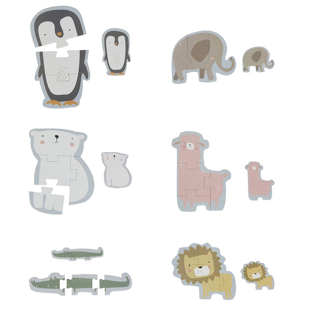 Puzzle Zoo Tiere 6 in 1