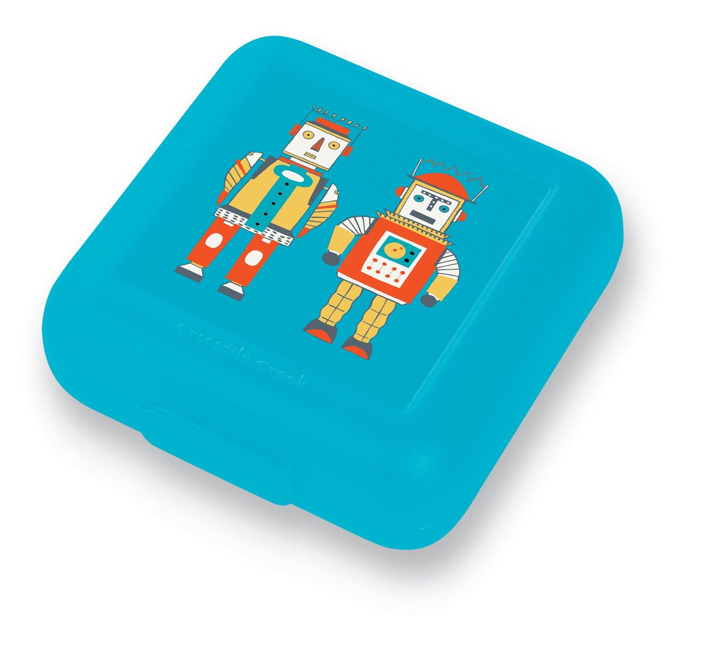 Brotdose Roboter blau
