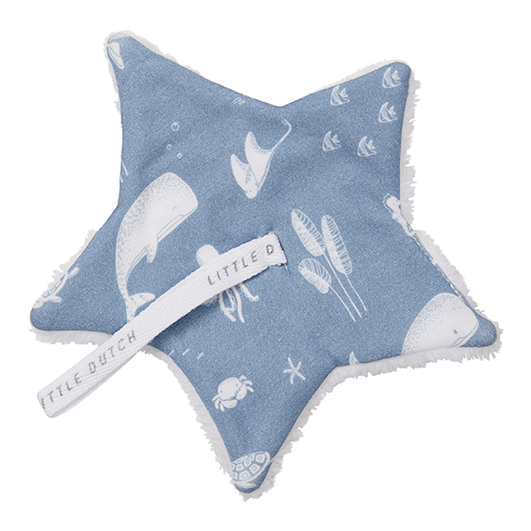 Schnullertuch Stern Ocean blau