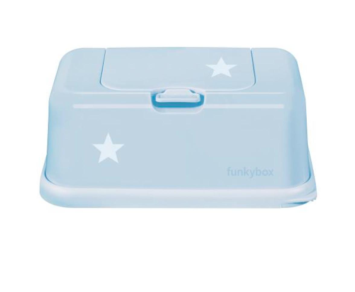 Feuchttücher Aufbewahrungsbox Sternchen puderblau
