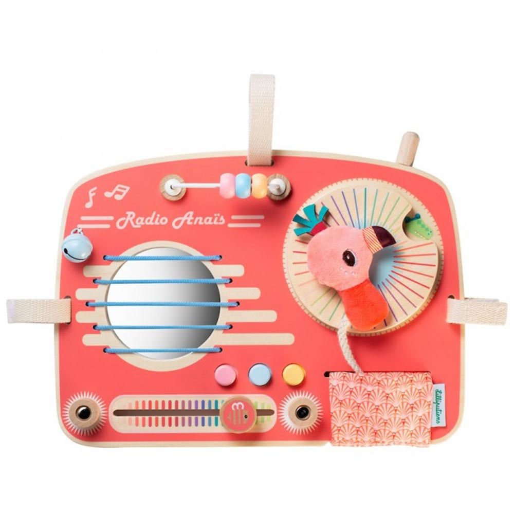 Holz Spielboard Radio