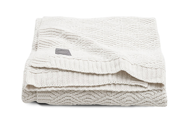 Babydecke Strickdecke River Knit weiß (75x100 cm)