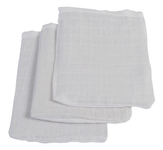 Jollein Waschlappen weiß 3er Set