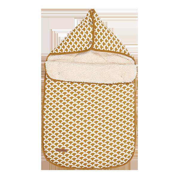 Fußsack für Babyschale Sunrise ocker gelb