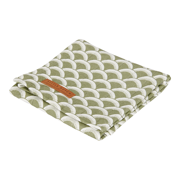 Musselin Swaddle Tuch / Pucktuch Sunrise olive (Gr. 120x120 cm)