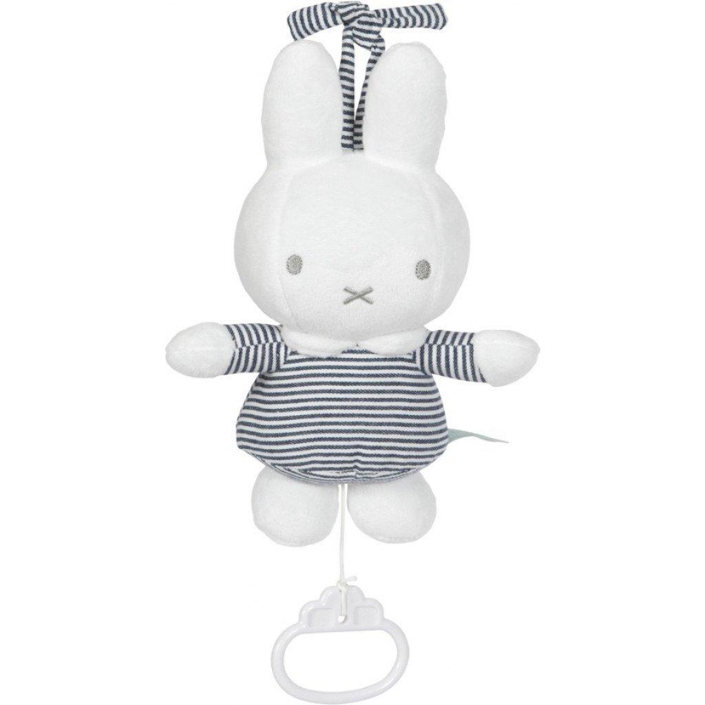Miffy Hase ABC Spieluhr gestreift weiß grau