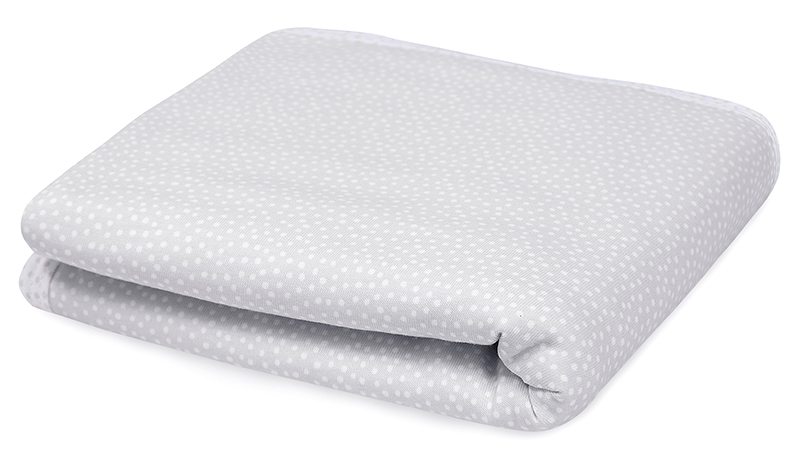 Babydecke Pünktchen grau weiß 65x80 cm
