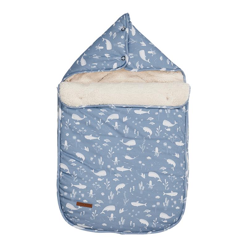 Fußsack für Babyschale Ocean blau