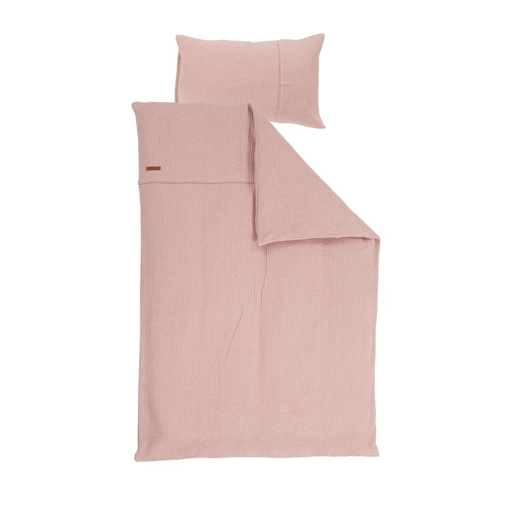 Kinderbettwäsche Pure rosa (Gr. 100x140 cm + 40x60 cm)