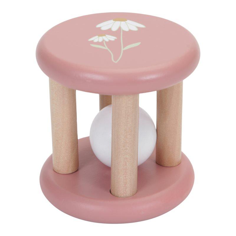 Holz Rassel Greifling (Wild Flowers rosa)