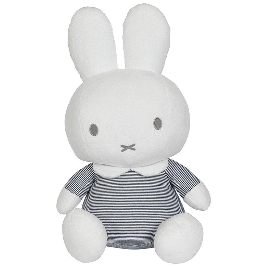 Miffy Hase ABC Stofftier Kuscheltier gestreift weiß grau 32 cm