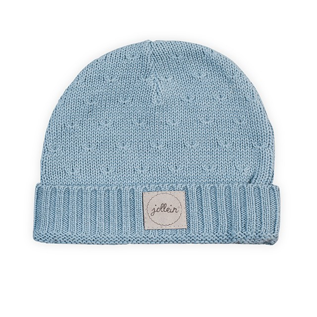 Jollein Strick Mütze Soft Knit hellblau Größe: 9-18 Monate AV!!!