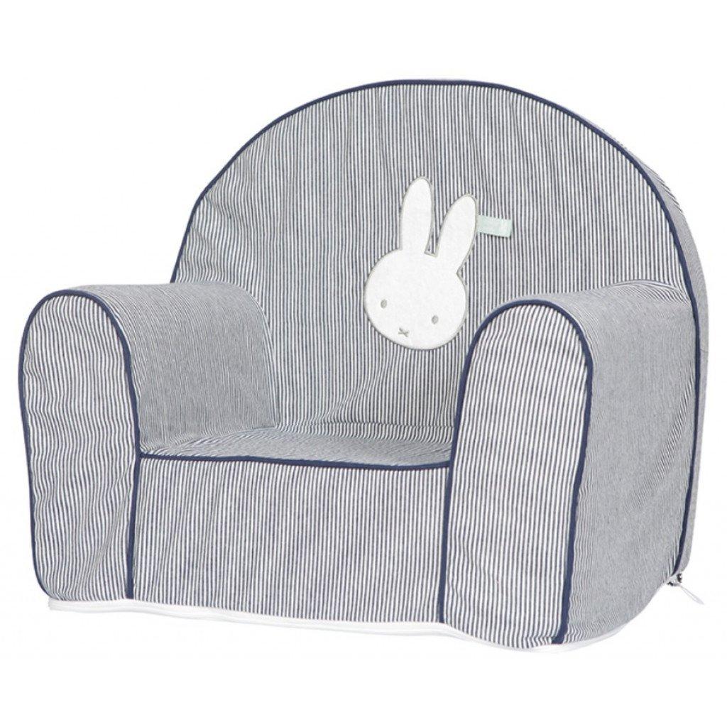 Kindersessel Miffy Hase ABC grau weiß