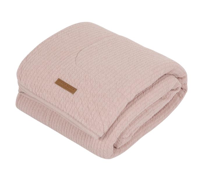 Babydecke mit Nickistoff Pure rosa 70x100 cm