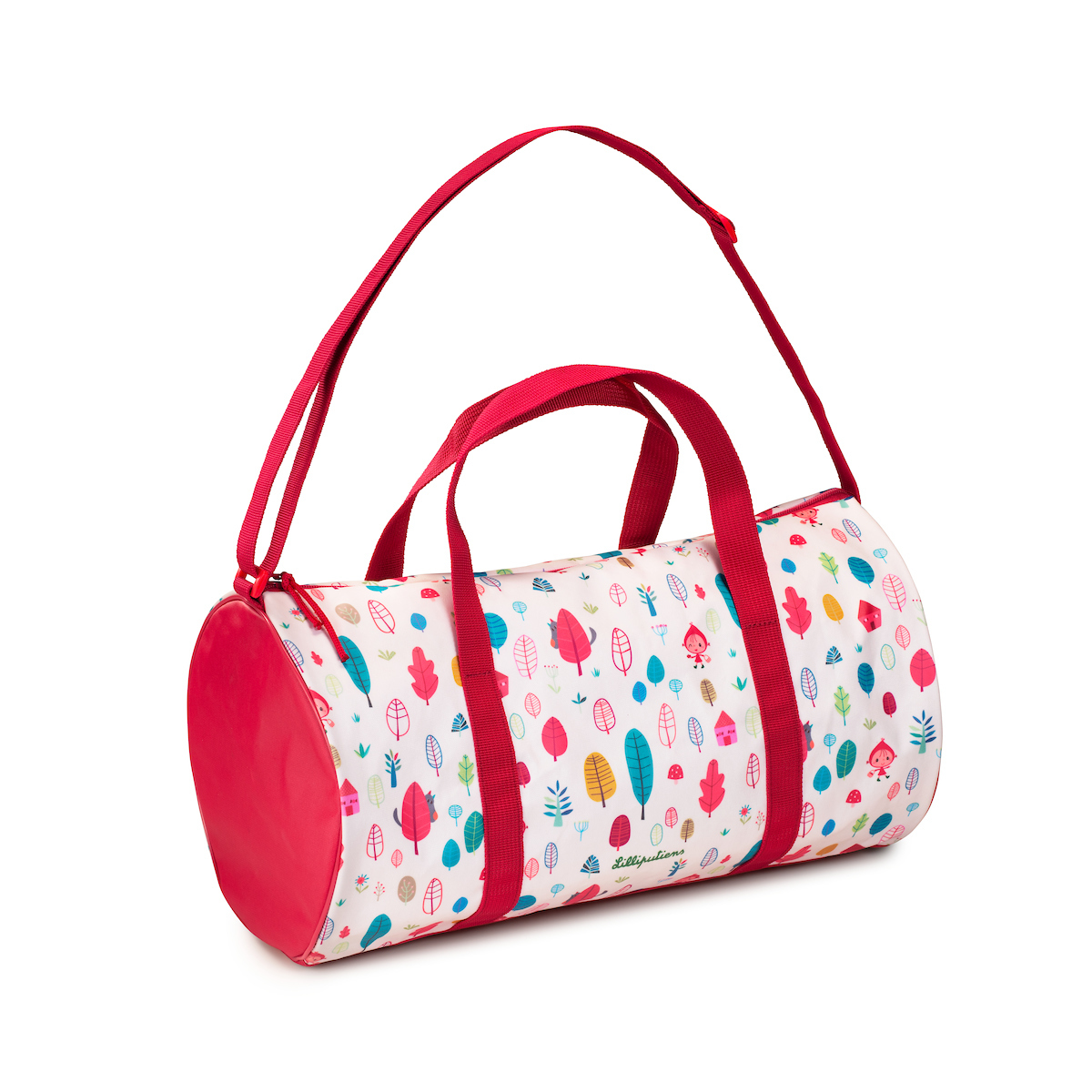 Sporttasche Reisetasche Rotkäppchen weiß rot