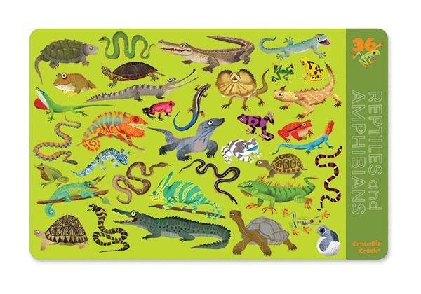 Platzset Tischset Reptilien & Amphibien 28 x 33,5 cm