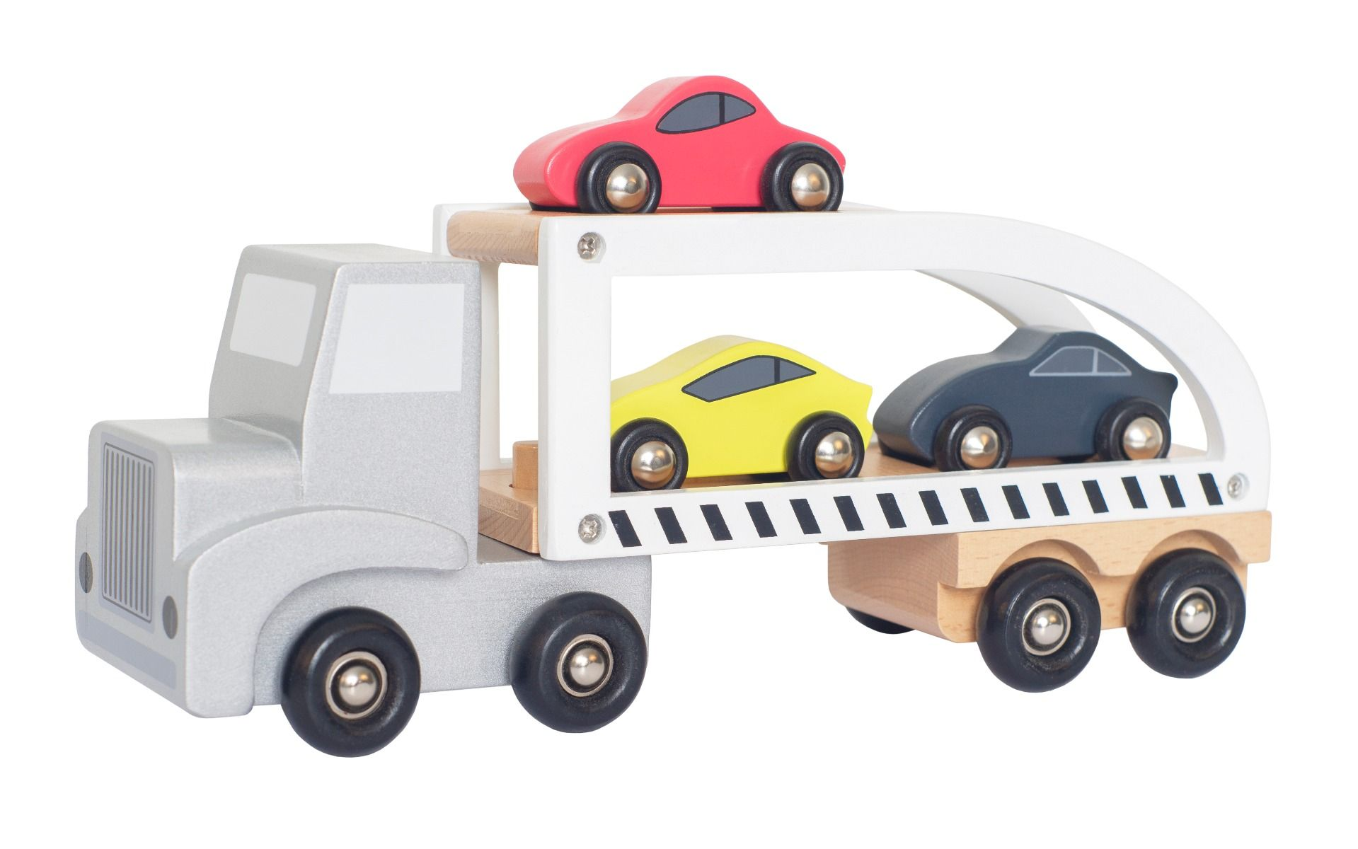 Holz Auto Truck Transporter mit Sportautos