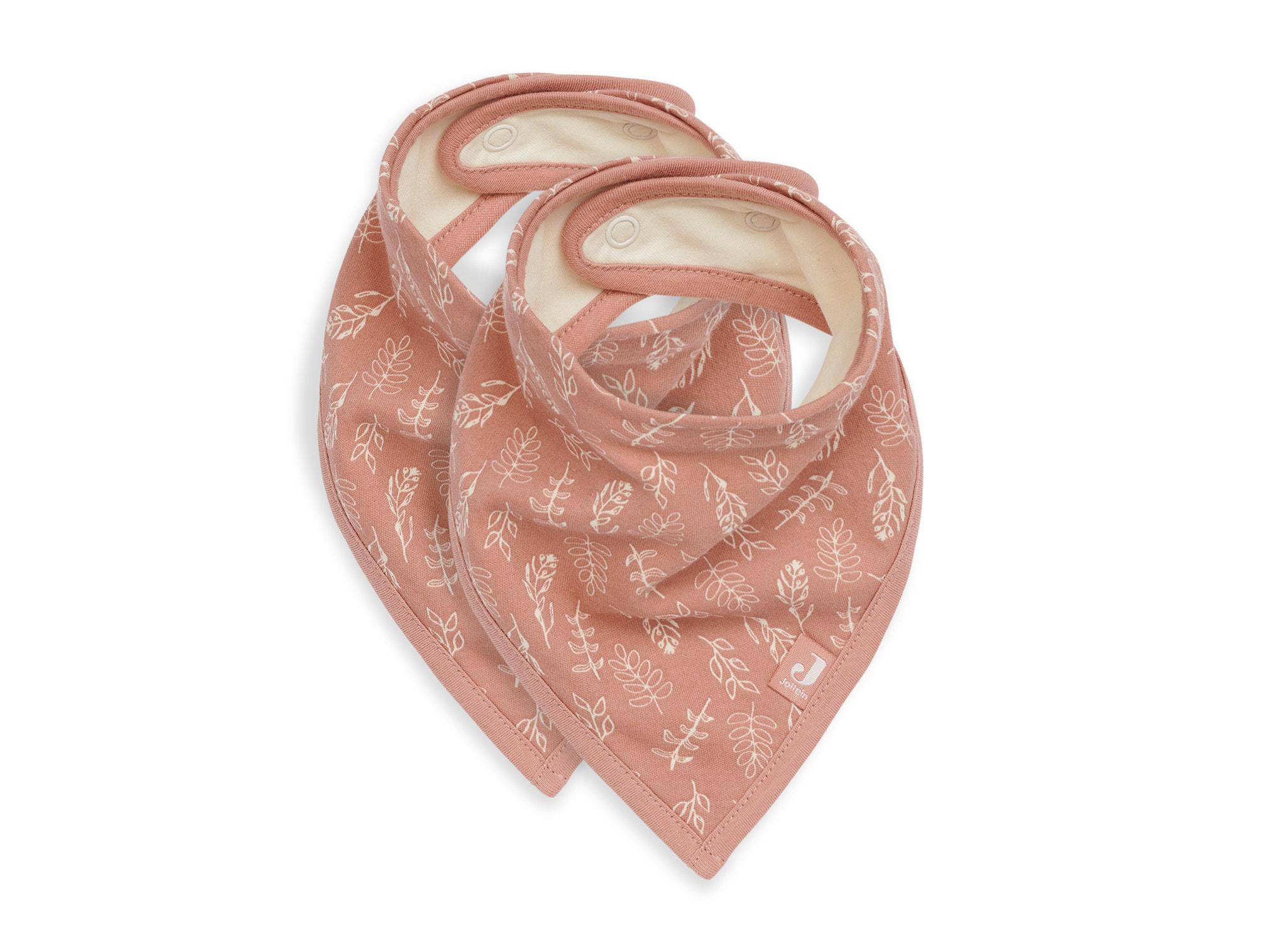 Lätzchen Halstuch 2er Set Wiese rosa