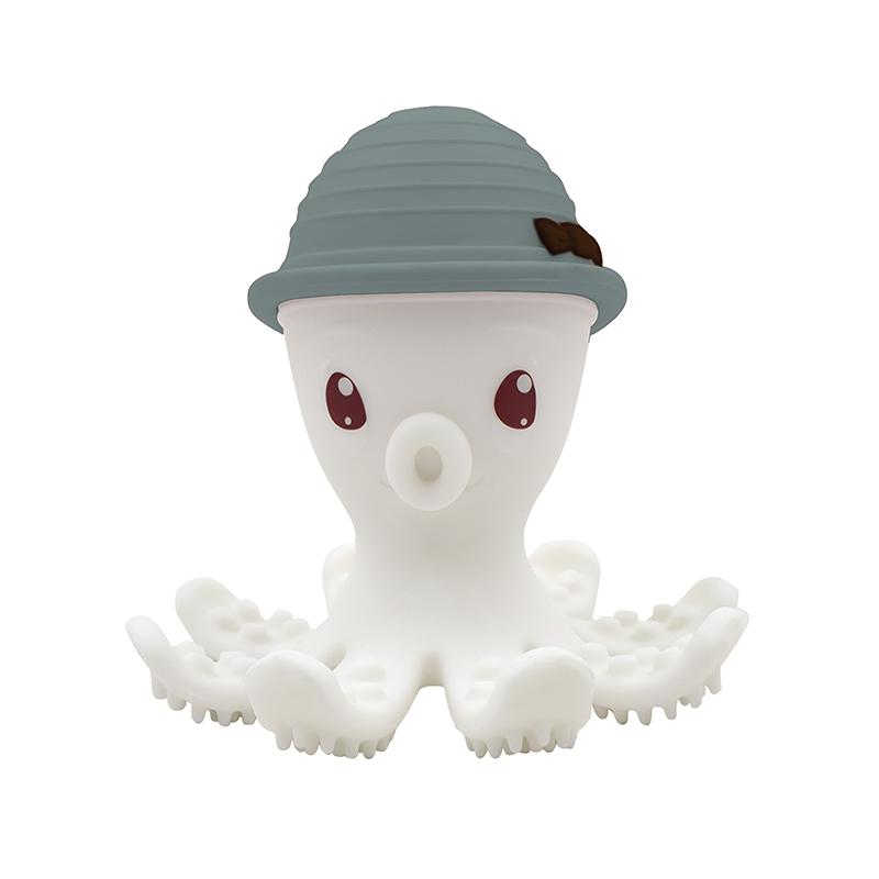 Beißring Silikon Oktopus steingrün