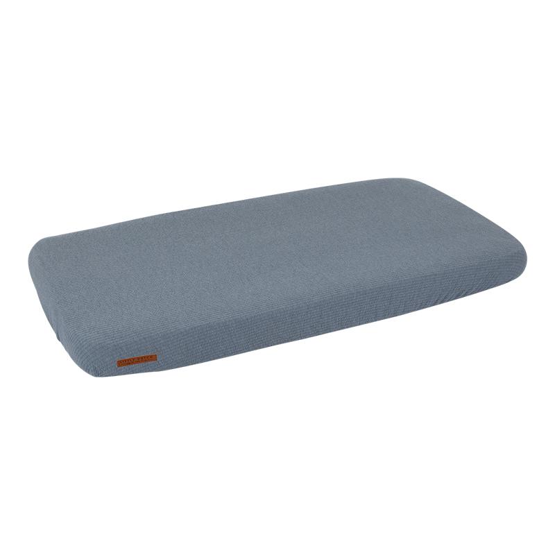 Spannbetttuch für Kinderbett Pure blau (Gr. 70x140 cm)