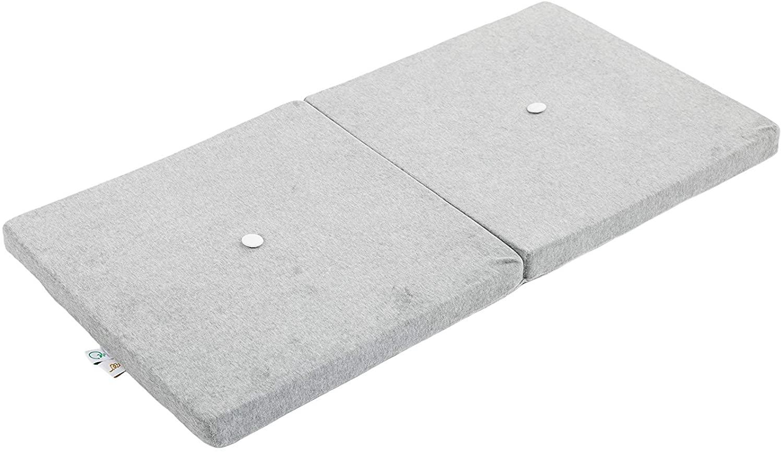 Samt Sitzkissen faltbare Spielmatte grau