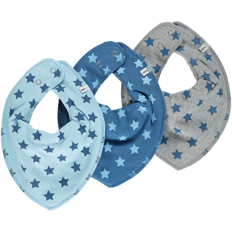 Bandana Halstuch 3er-Pack grau / blau