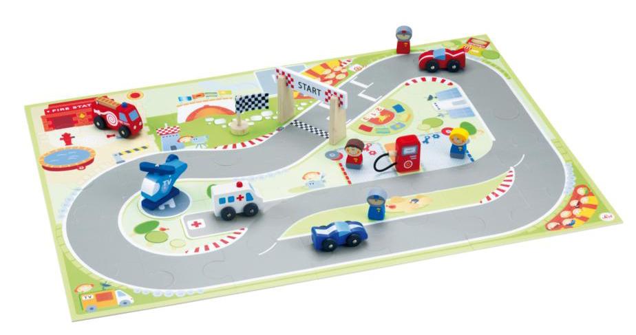 Sevi - Spielpuzzle F1 mit Figuren