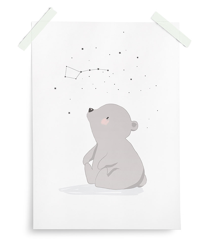 Poster Artic Dream Eisbär weiß 30x40 cm