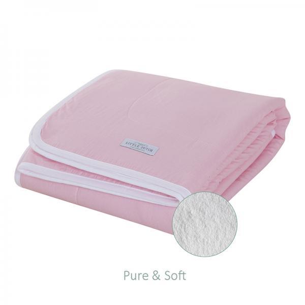 Babydecke mit Teddyfell Medium rosa 70x100 cm