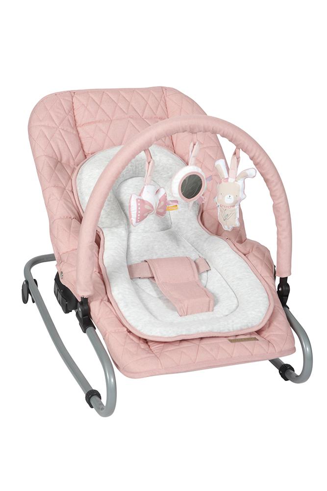 Babywippe mit Spielbogen rosa