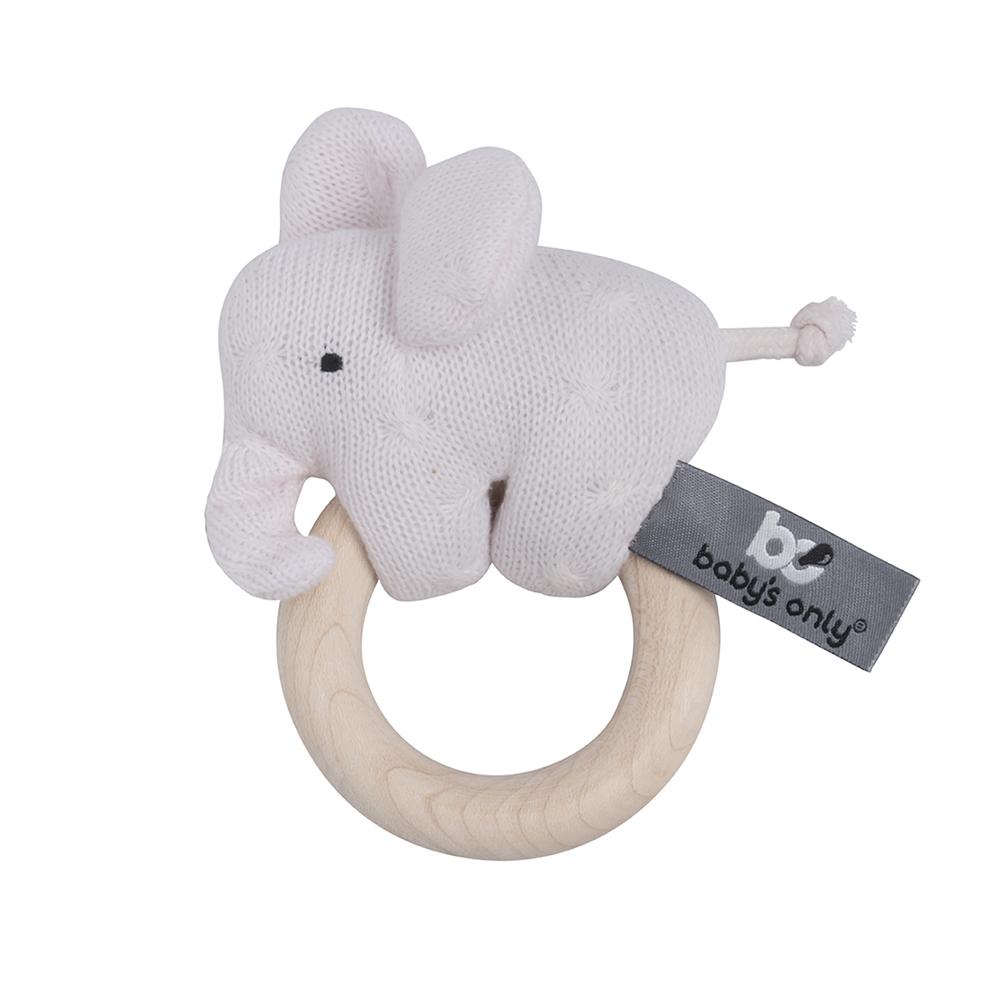 Greifling / Rassel Elefant rosa