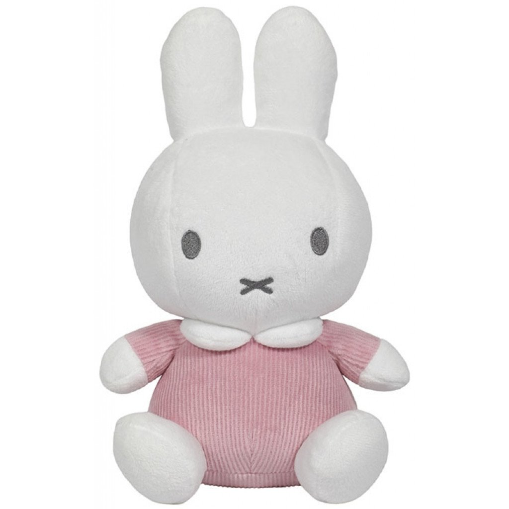Miffy Hase Cord Stofftier Kuscheltier rosa 20 cm