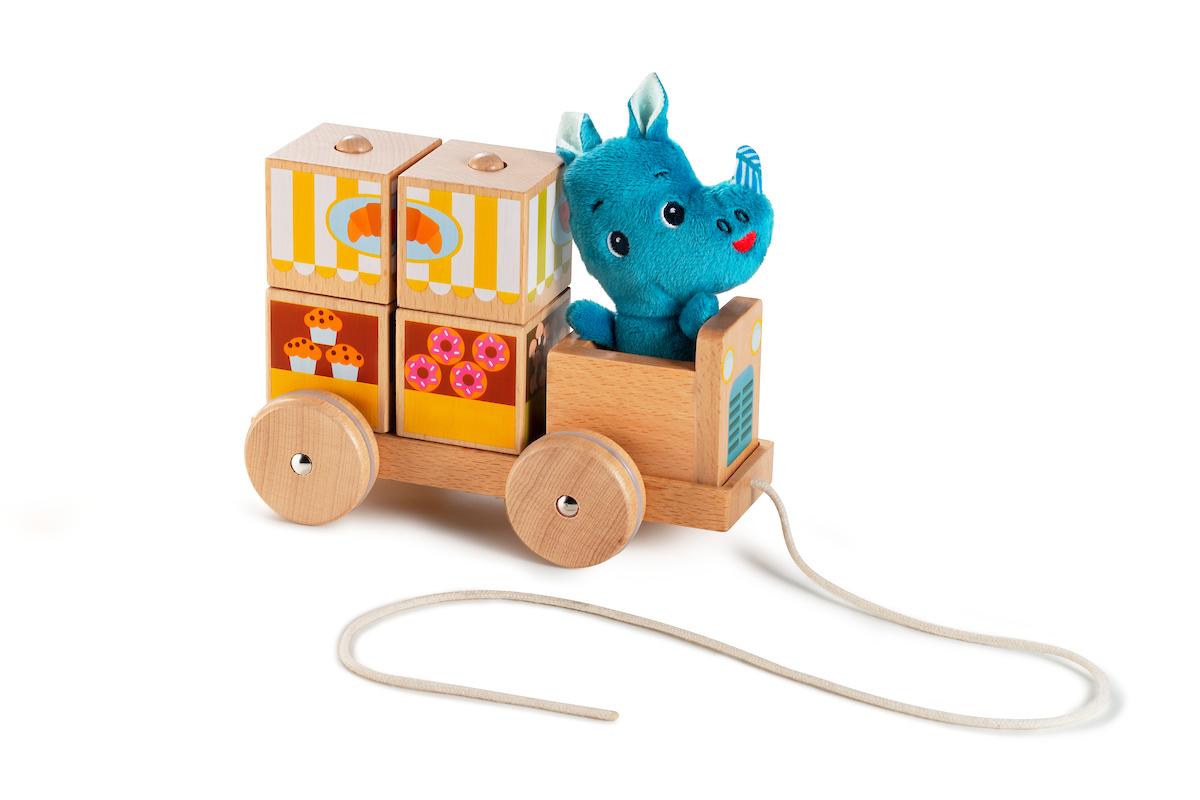 Nachziehwagen Imbisswagen mit Figur Marius Nashorn
