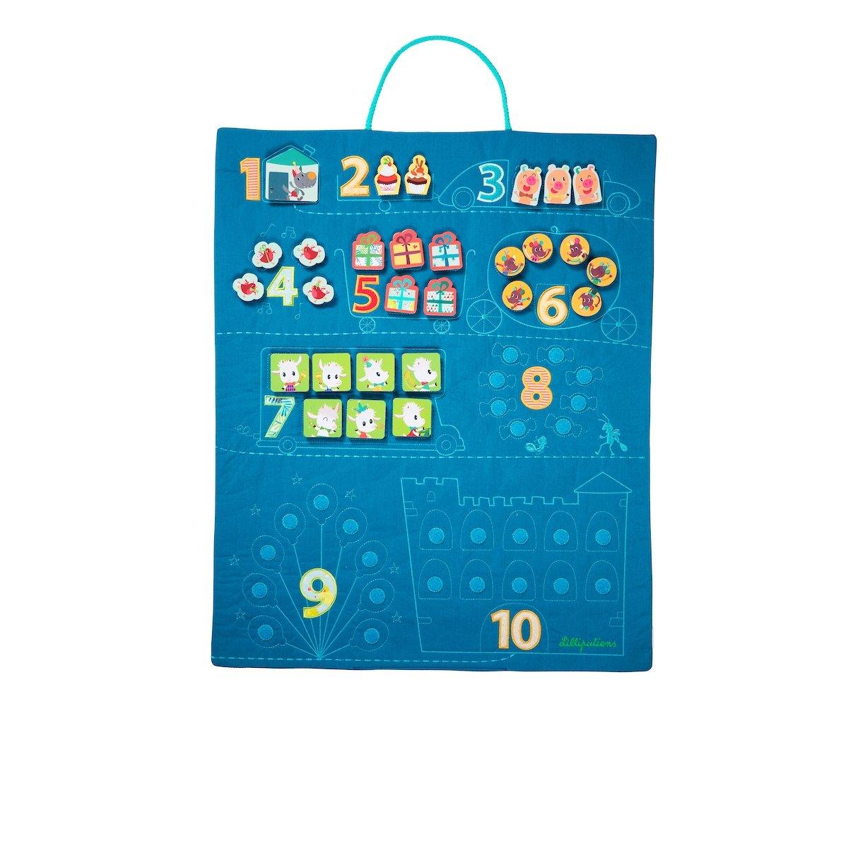 Stoff Zähltafel für Kinder zum Aufhängen
