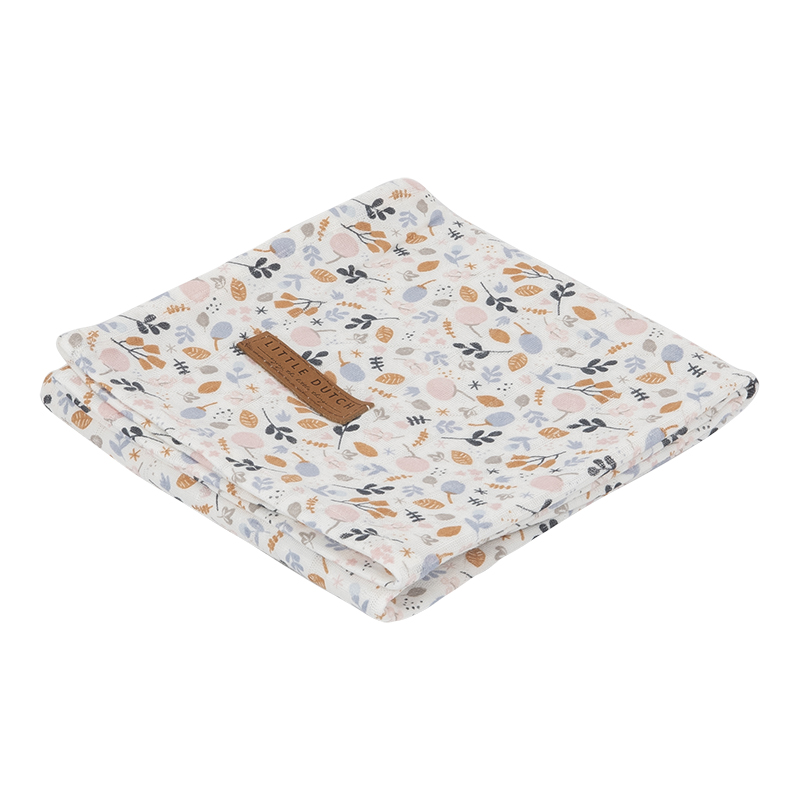 Musselin Swaddle Tuch / Pucktuch Spring Flowers (Gr. 120x120 cm)